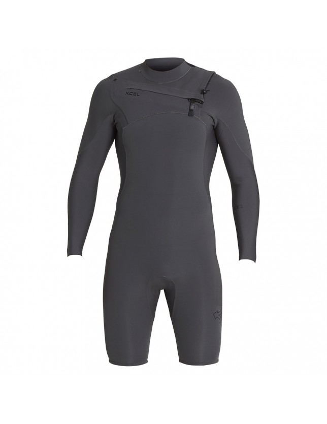 2mm Long Sleeve Comp X Shorty Wetsuit Jet Black