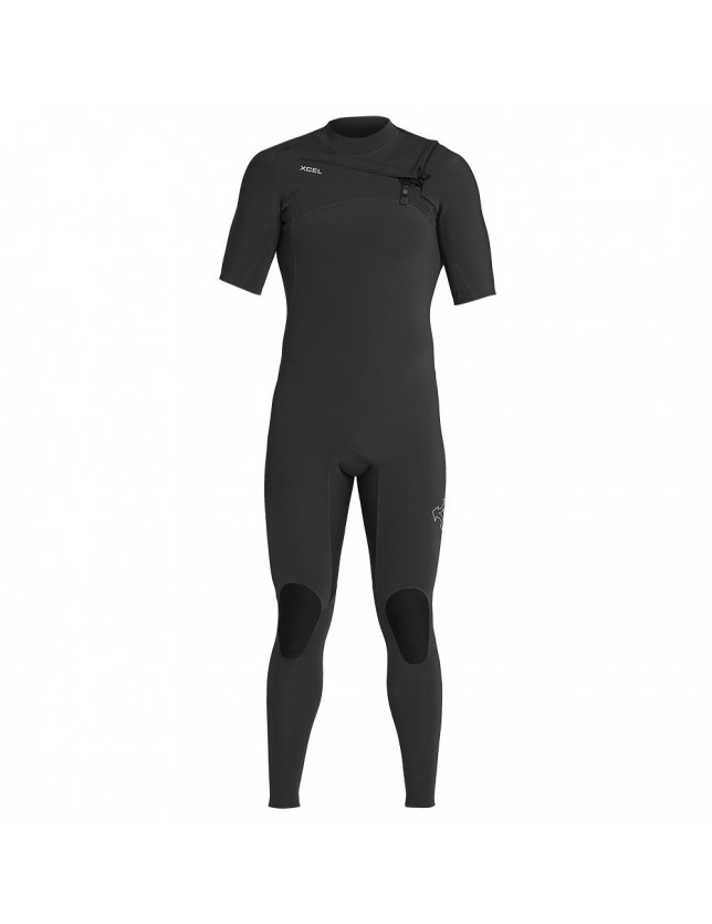 2mm Mens Short Sleeve Comp X Fullsuit Black