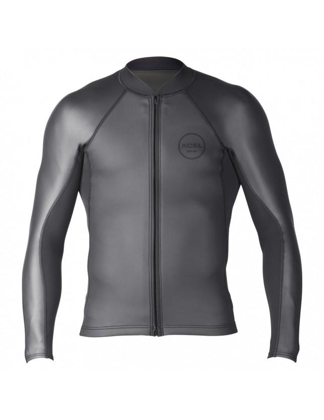 Xcel 2/1 Axis Long Sleeve Shark Skin Front Zip Wetsuit Top