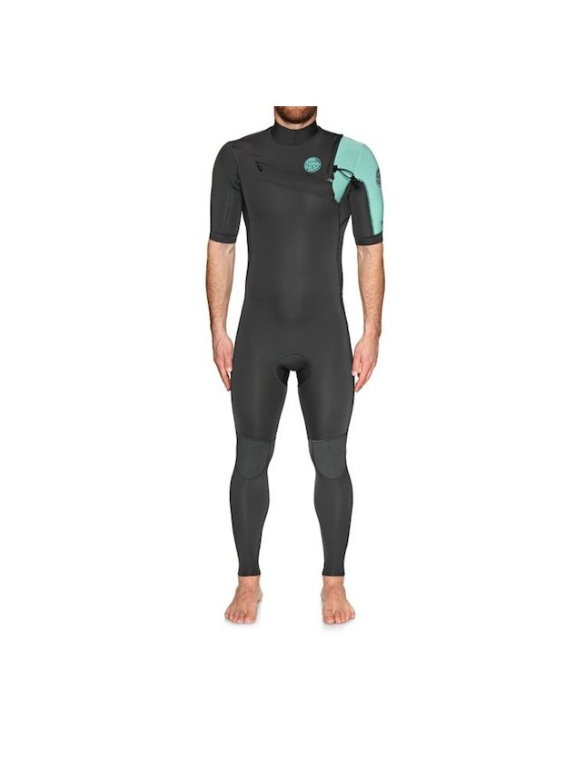 Rip Curl Aggrolite 2/2 Chest Zip Short Sleeve Teal
