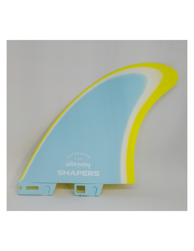 Shapers Fin Twin Fin Asher Pacey Light Blue