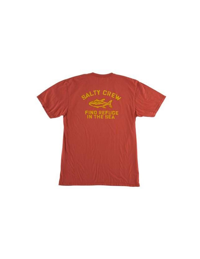 Salty Crew T-shirt Vandal Overdyed brick