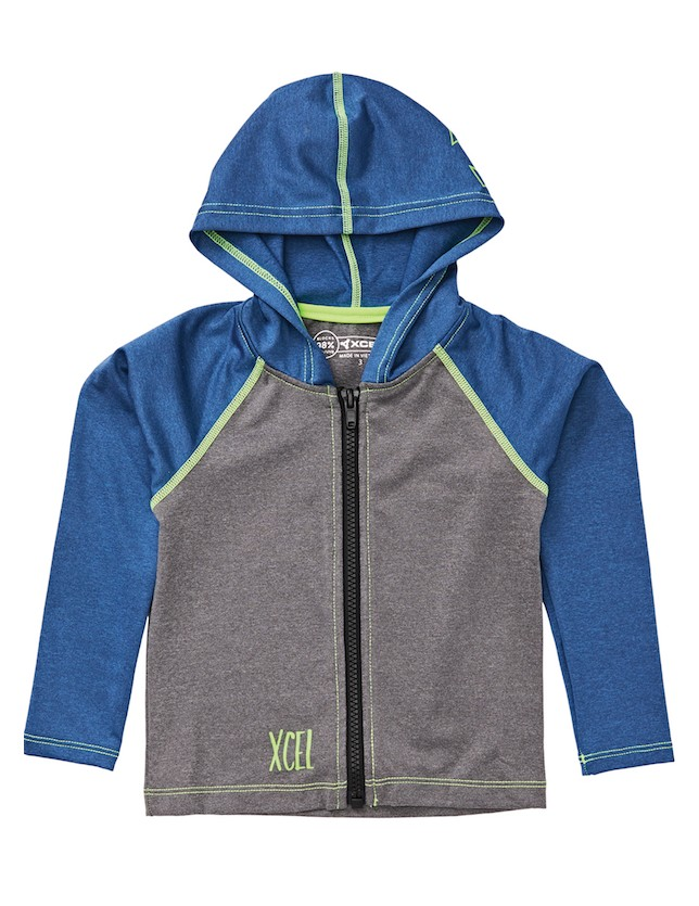 XCEL TODDLER PREMIUM STRETCH KIDS FRONT ZIP HOODIE