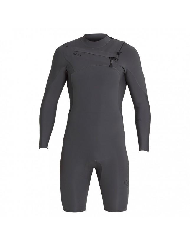 2mm Long Sleeve Comp X Shorty Wetsuit Jet Black
