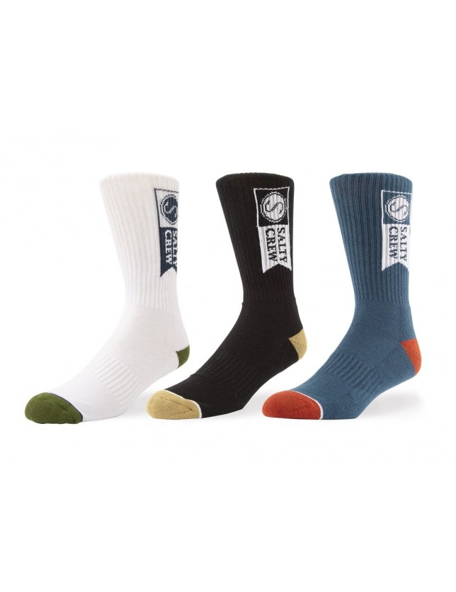 Salty Crew Alpha Sock 3 Pack