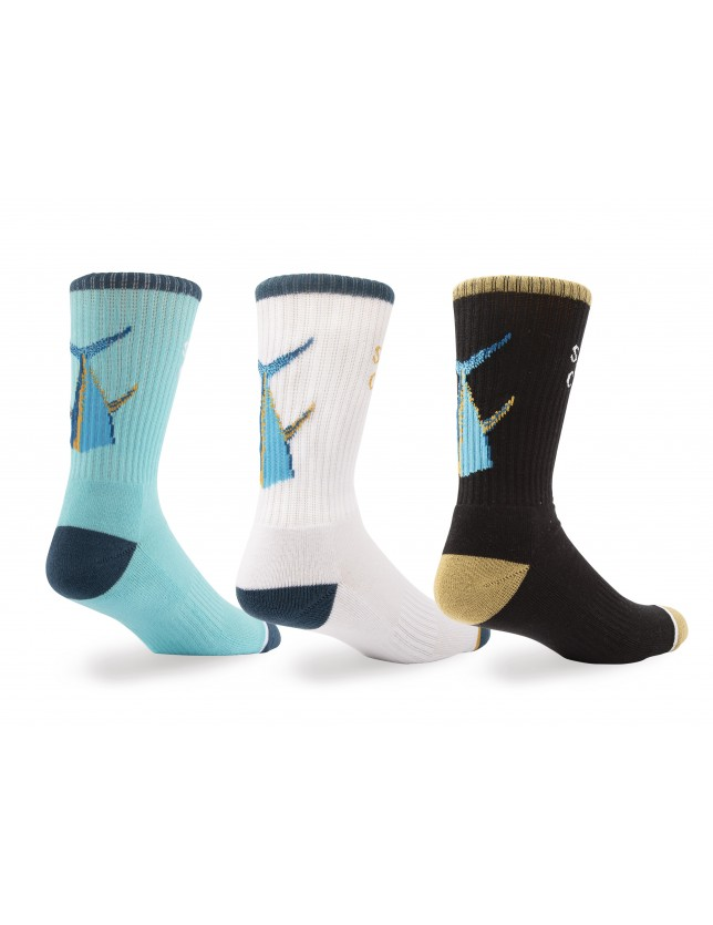 Salty Crew Tailed Sock 3pk.