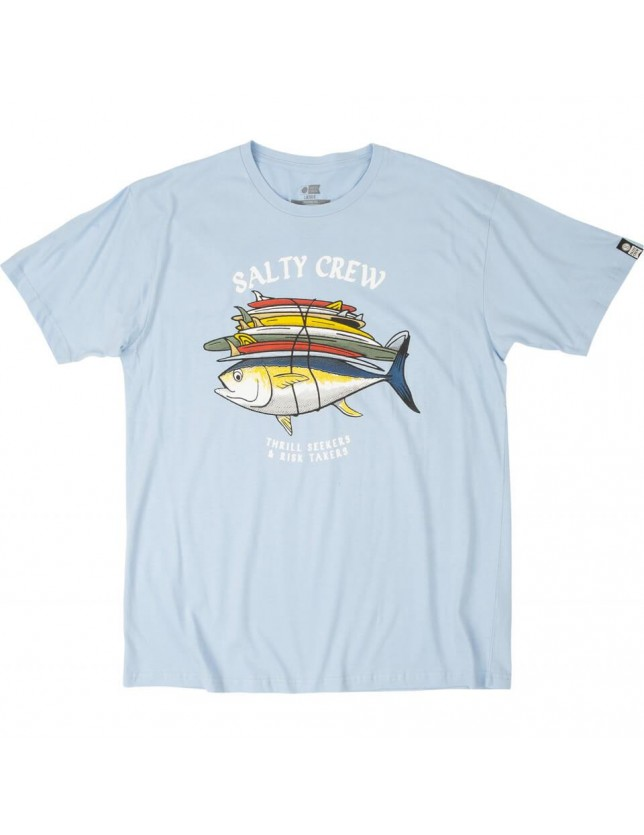 Salty Crew T-shirt Voyager Light Blue