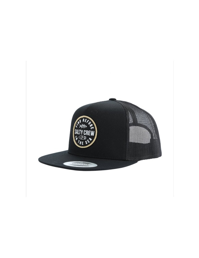Salty Crew Twin Fin trucker black